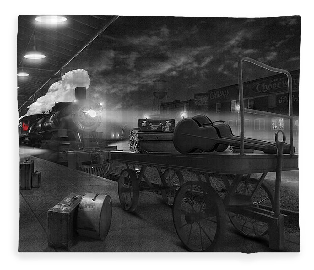 Transportation Fleece Blanket featuring the photograph The Station by Mike McGlothlen