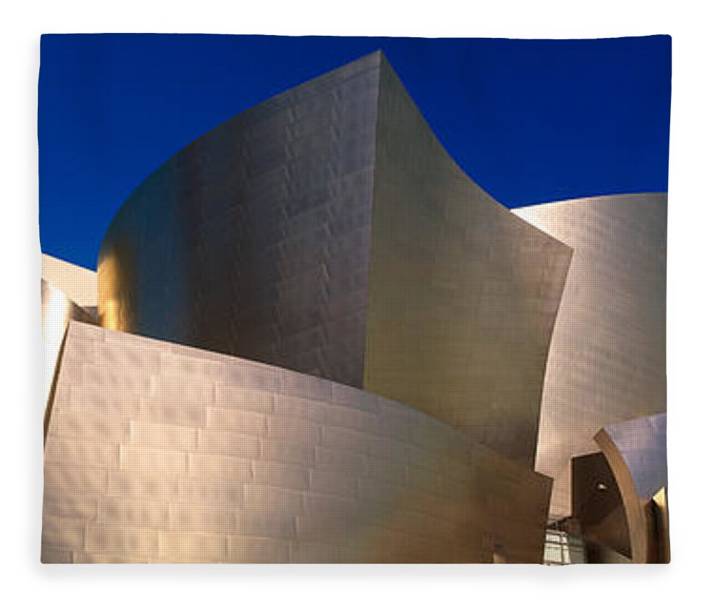 Photography Fleece Blanket featuring the photograph Walt Disney Concert Hall, Los Angeles by Panoramic Images