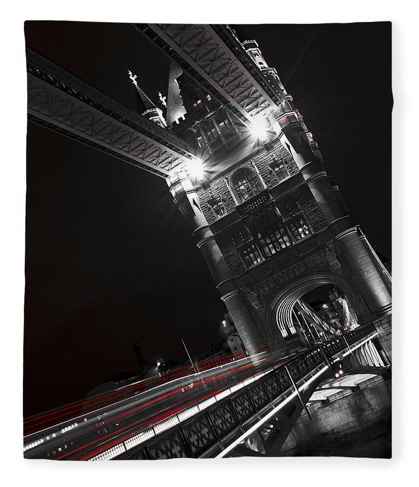 Tower Bridge Fleece Blanket featuring the photograph Tower Bridge London by David Pyatt