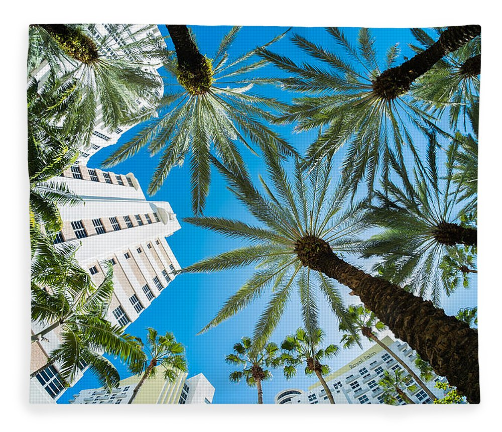 Architecture Fleece Blanket featuring the photograph Miami Beach by Raul Rodriguez