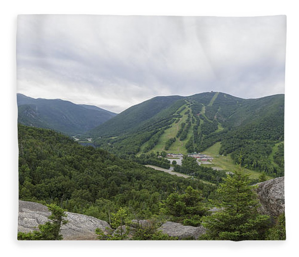 Bald Mountain Fleece Blanket featuring the photograph Franconia Notch State Park - White Mountains New Hampshire Usa by Erin Paul Donovan