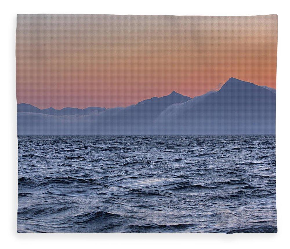 Scenics Fleece Blanket featuring the photograph Ragged Coastline Of Faroe Islands by Sindre Ellingsen