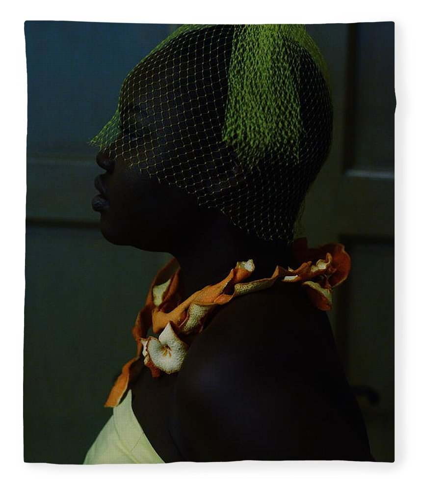 Headwear Fleece Blanket featuring the photograph The Black Victorian by Stephanie Nnamani