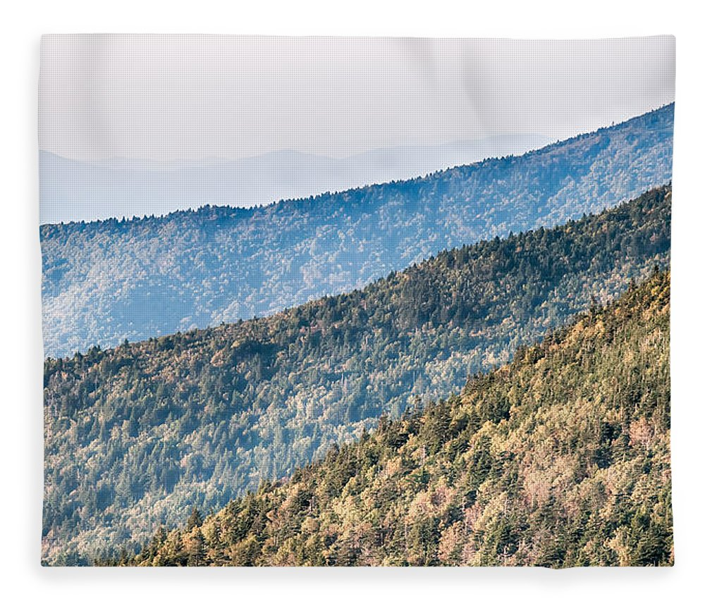 Sunset Fleece Blanket featuring the photograph The Simple Layers Of The Smokies At Sunset - Smoky Mountain Nat. by Alex Grichenko