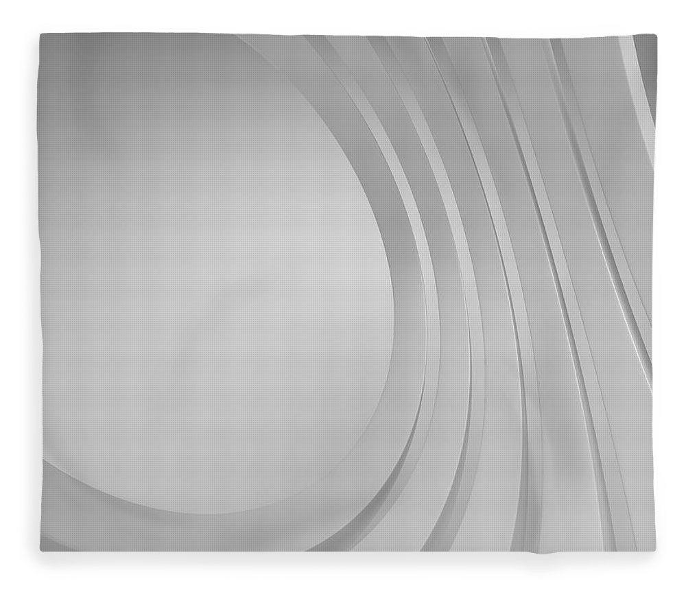 Arch Fleece Blanket featuring the photograph 3d Blank Abstract Architecture by Me4o