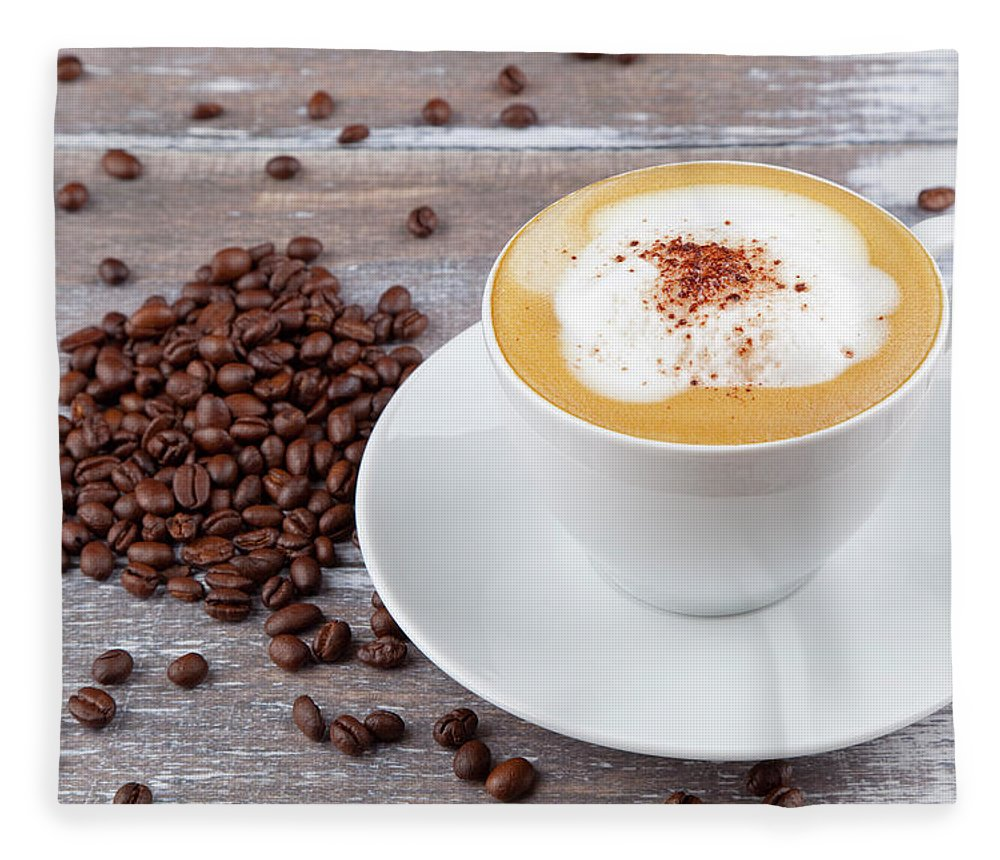 Cappuccino Fleece Blanket featuring the photograph Coffee by Focusstock