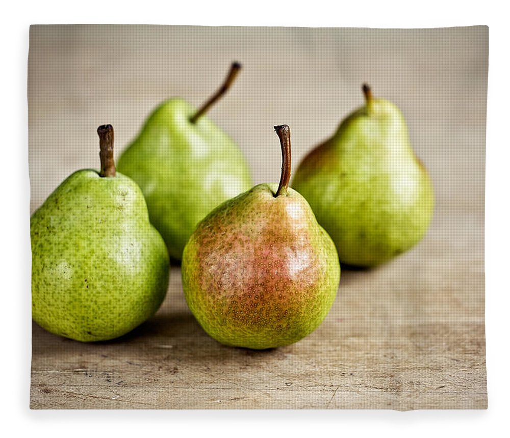 Pear Fleece Blanket featuring the photograph Pears by Nailia Schwarz