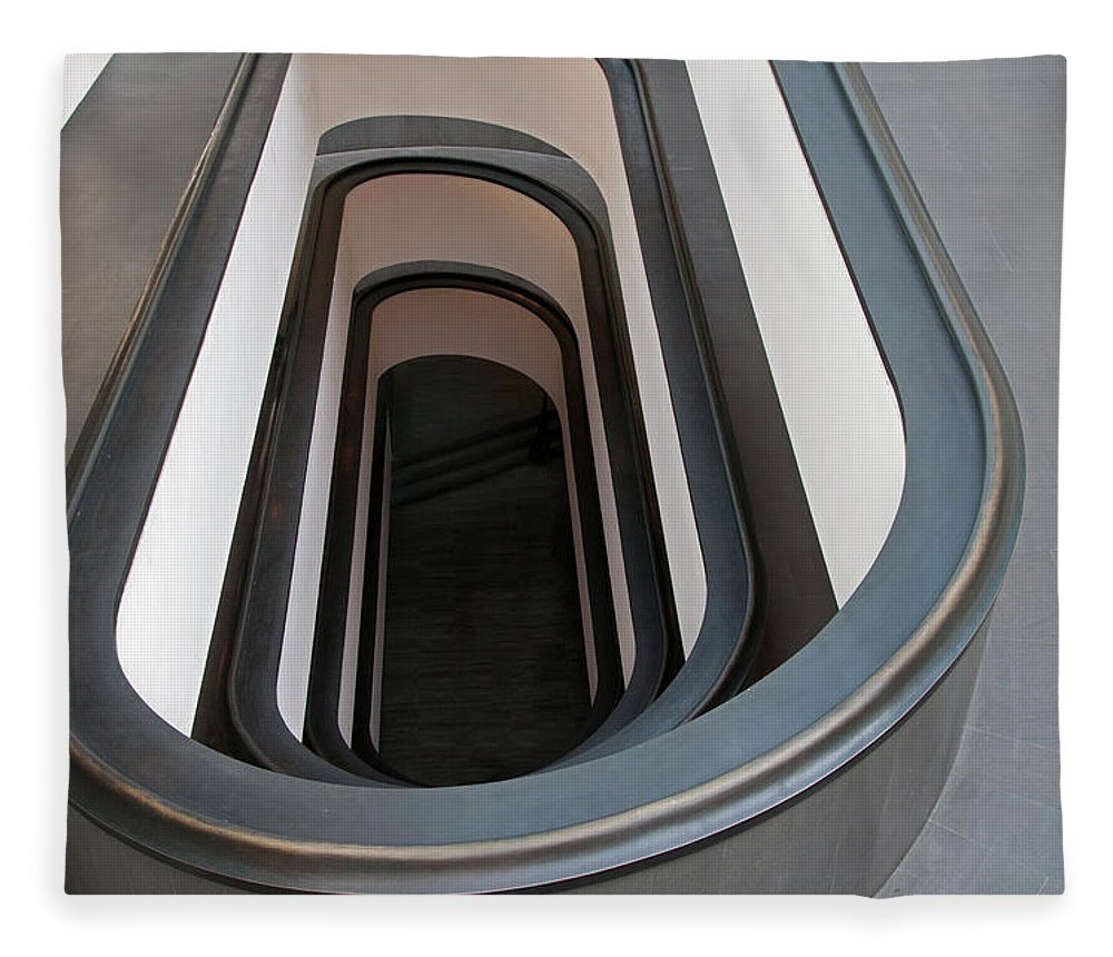 Italian Culture Fleece Blanket featuring the photograph Spiral Staircase At The Vatican by Mitch Diamond
