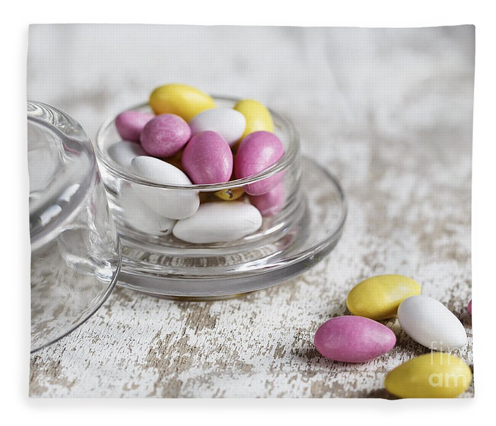 Candy Fleece Blanket featuring the photograph Sweet Candy by Nailia Schwarz