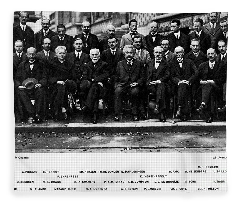 5th Solvay Conference of 1927 Fleece Blanket for Sale by Science Source