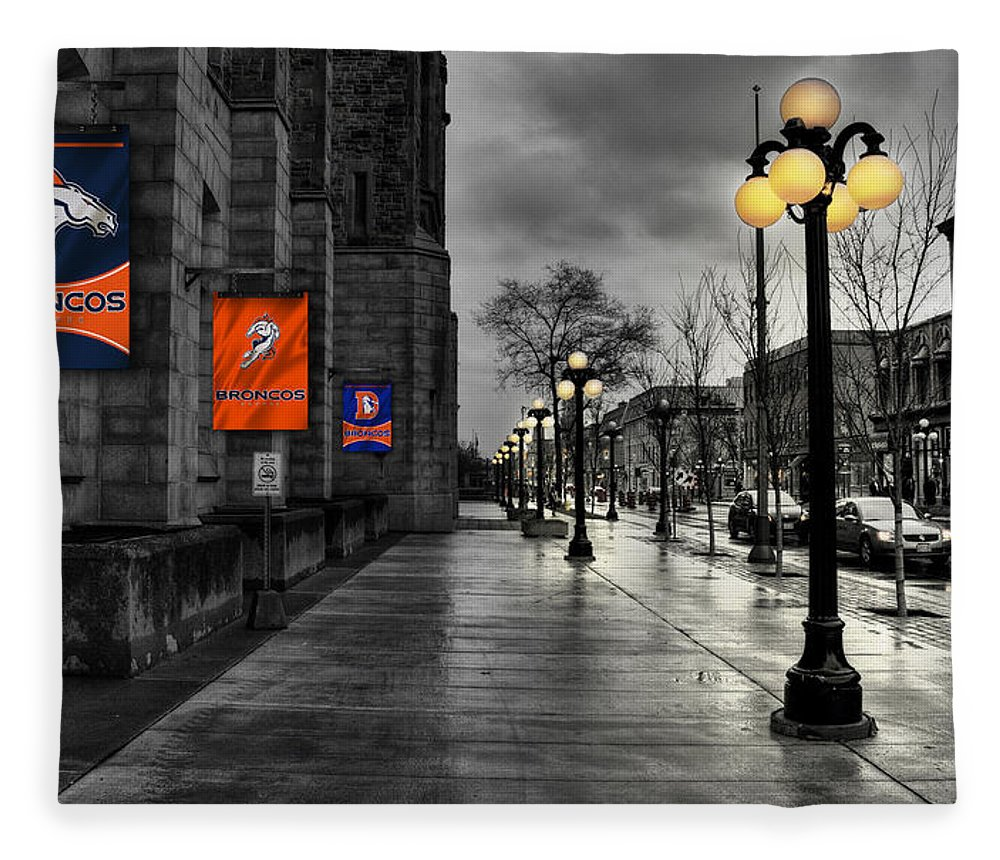 Broncos Fleece Blanket featuring the photograph Denver Broncos 73 by Joe Hamilton