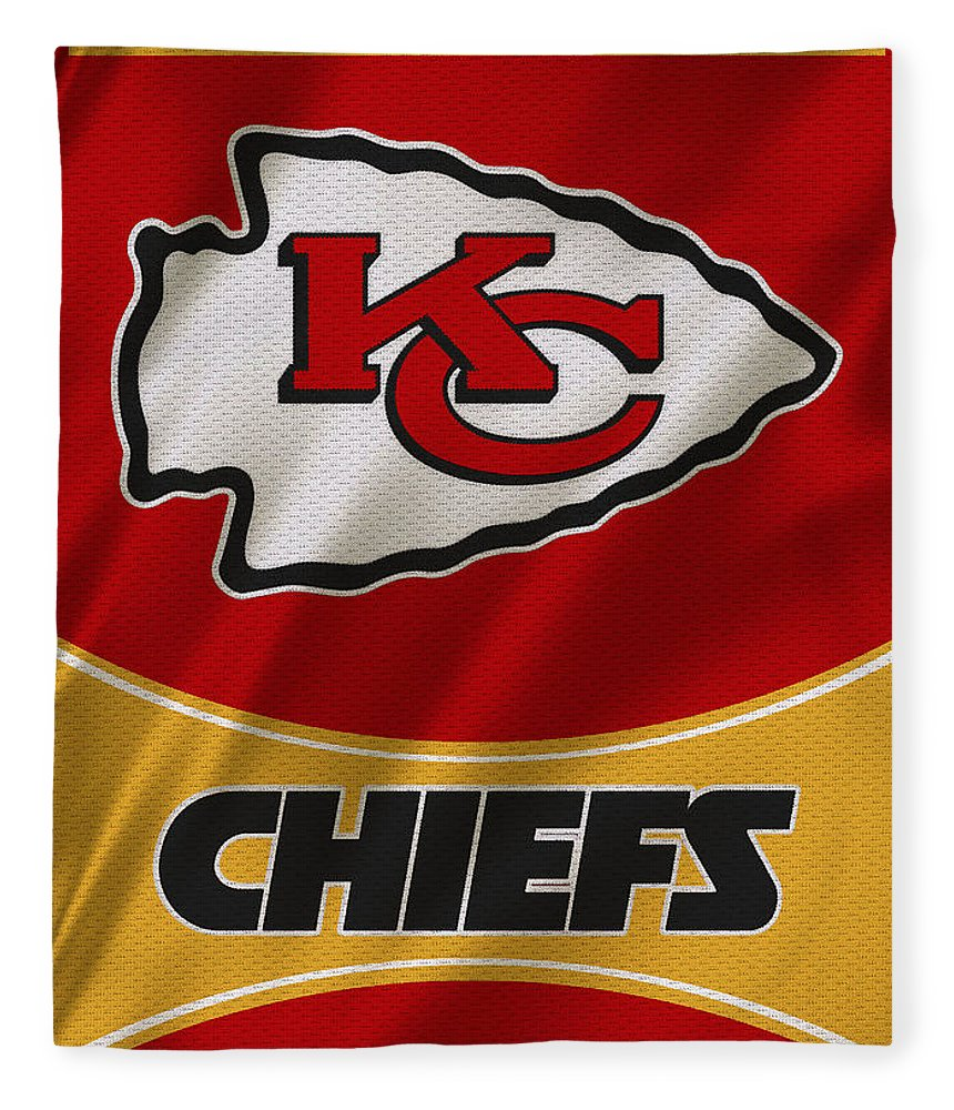 Chiefs Fleece Blanket featuring the photograph Kansas City Chiefs Uniform by Joe Hamilton