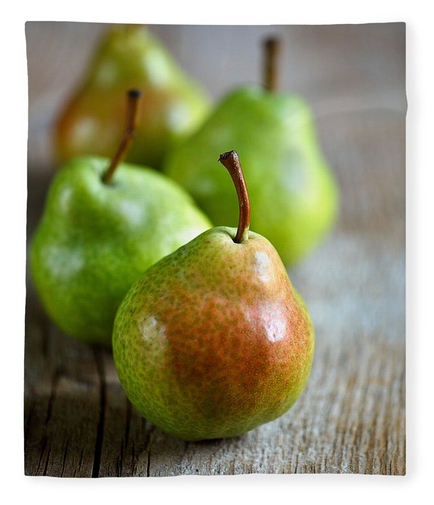 Pear Fleece Blanket featuring the photograph Pears 7 by Nailia Schwarz