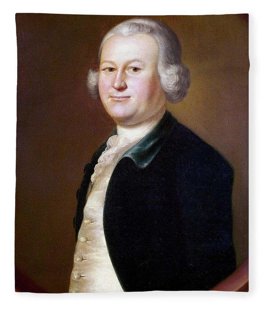 1755 Fleece Blanket featuring the painting James Otis (1725-1783) by Granger