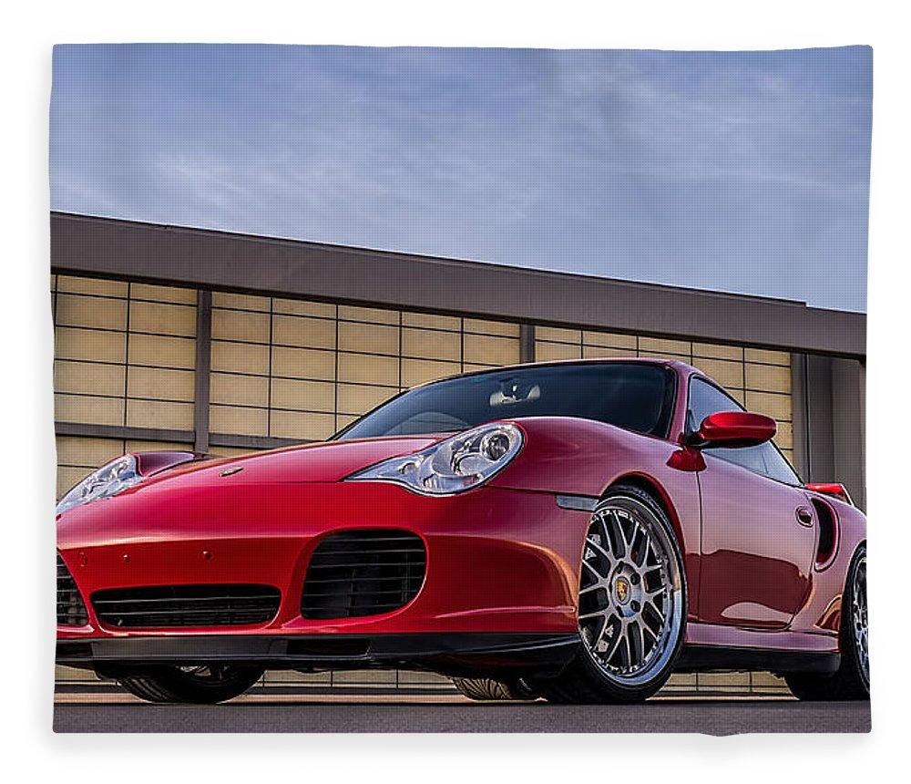 Porsche Fleece Blanket featuring the digital art 911 Twin Turbo by Douglas Pittman