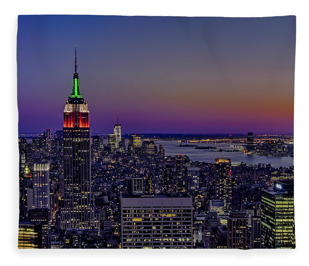 Nyc Fleece Blanket featuring the photograph A View From The Top by Susan Candelario