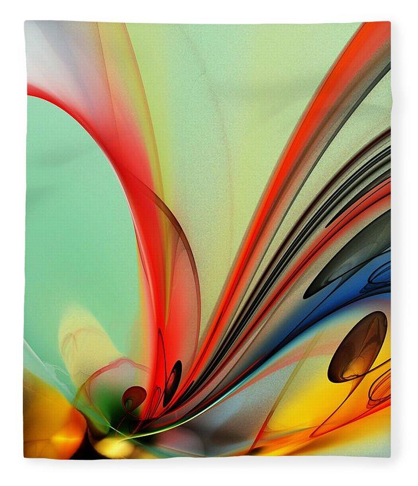 Fine Art Fleece Blanket featuring the digital art Abstract 040713 by David Lane