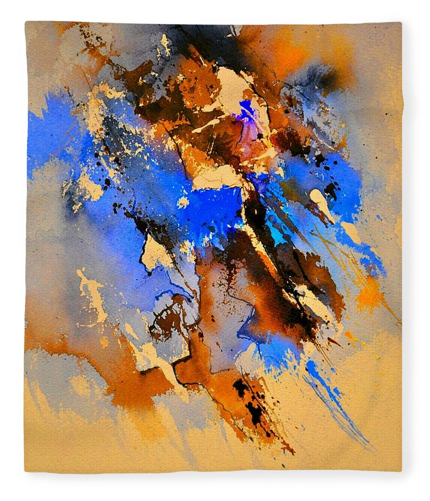 Abstract Fleece Blanket featuring the painting Abstract 4110212 by Pol Ledent