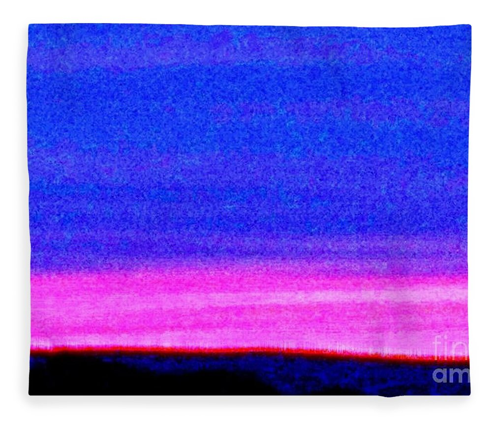 Abstract Fleece Blanket featuring the photograph Abstract Landscape by Eric Schiabor