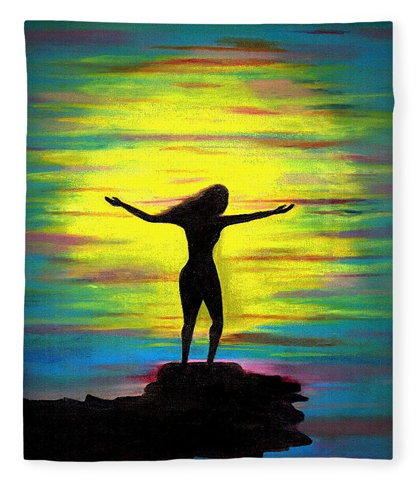 Beautiful Fleece Blanket featuring the photograph Accomplished by Artist RiA