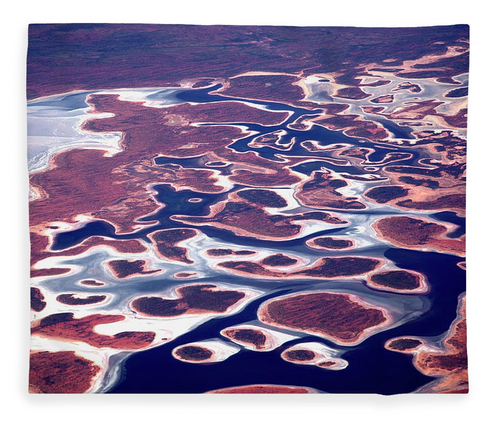 Scenics Fleece Blanket featuring the photograph Aerial View Of The Pilbara Landscape by Tobias Titz