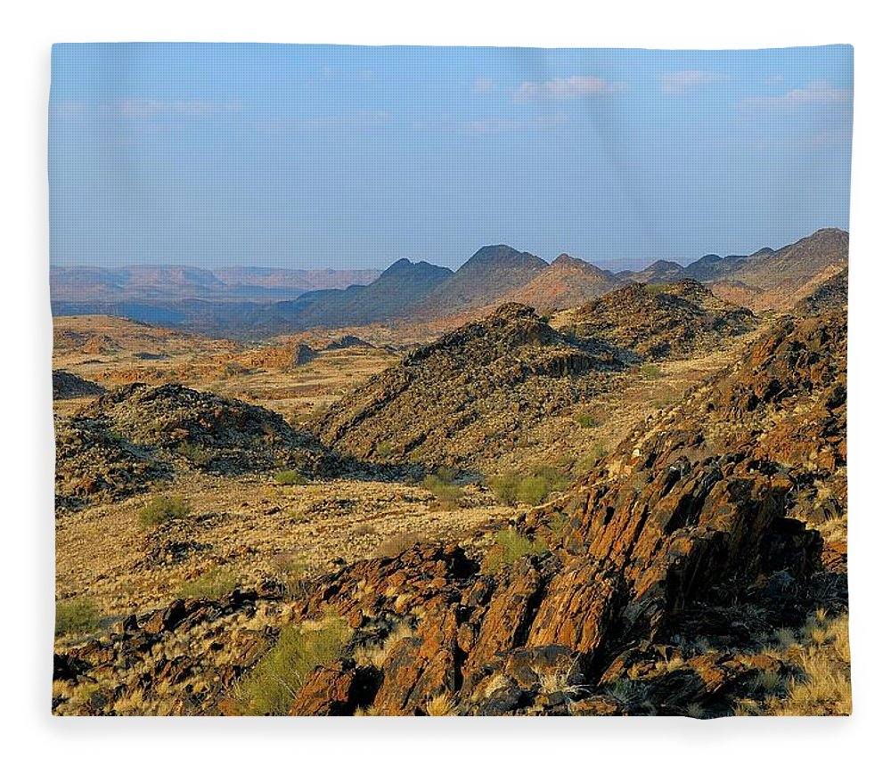 Scenics Fleece Blanket featuring the photograph African Scenery by Vittorio Ricci - Italy