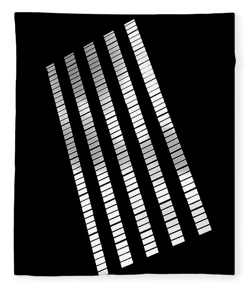 Abstract Fleece Blanket featuring the photograph After Rodchenko 2 by Rona Black
