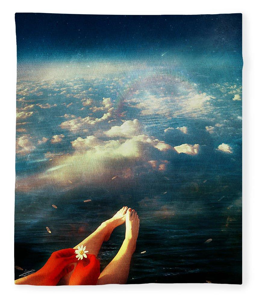 Again Fleece Blanket featuring the digital art Again by Mario Sanchez Nevado