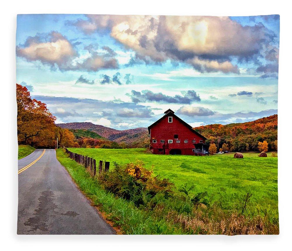West Virginia Fleece Blanket featuring the photograph Ah...west Virginia Painted by Steve Harrington