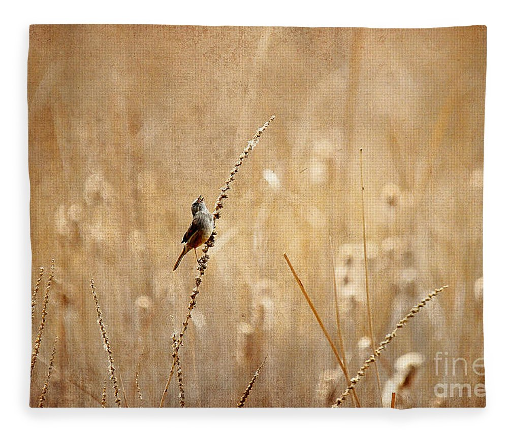 Bird Fleece Blanket featuring the photograph All Rejoicing by Lois Bryan