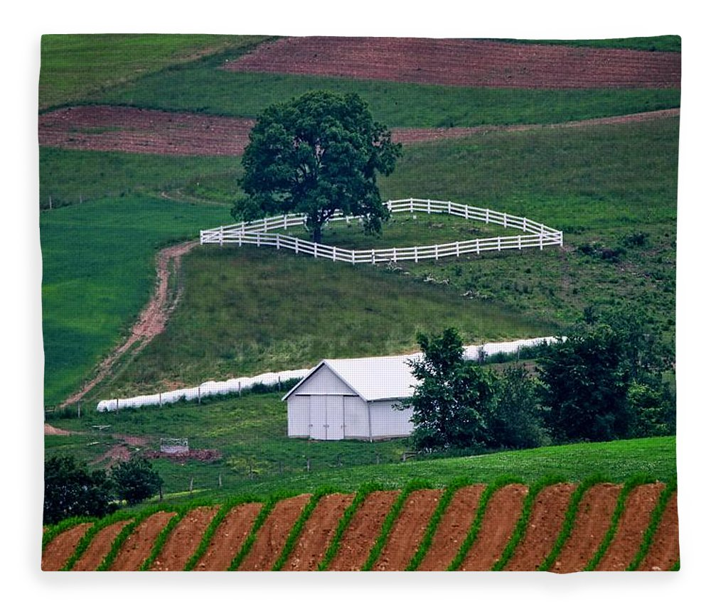 Amish Landscape Fleece Blanket featuring the photograph Amish Landscape by Dan Sproul