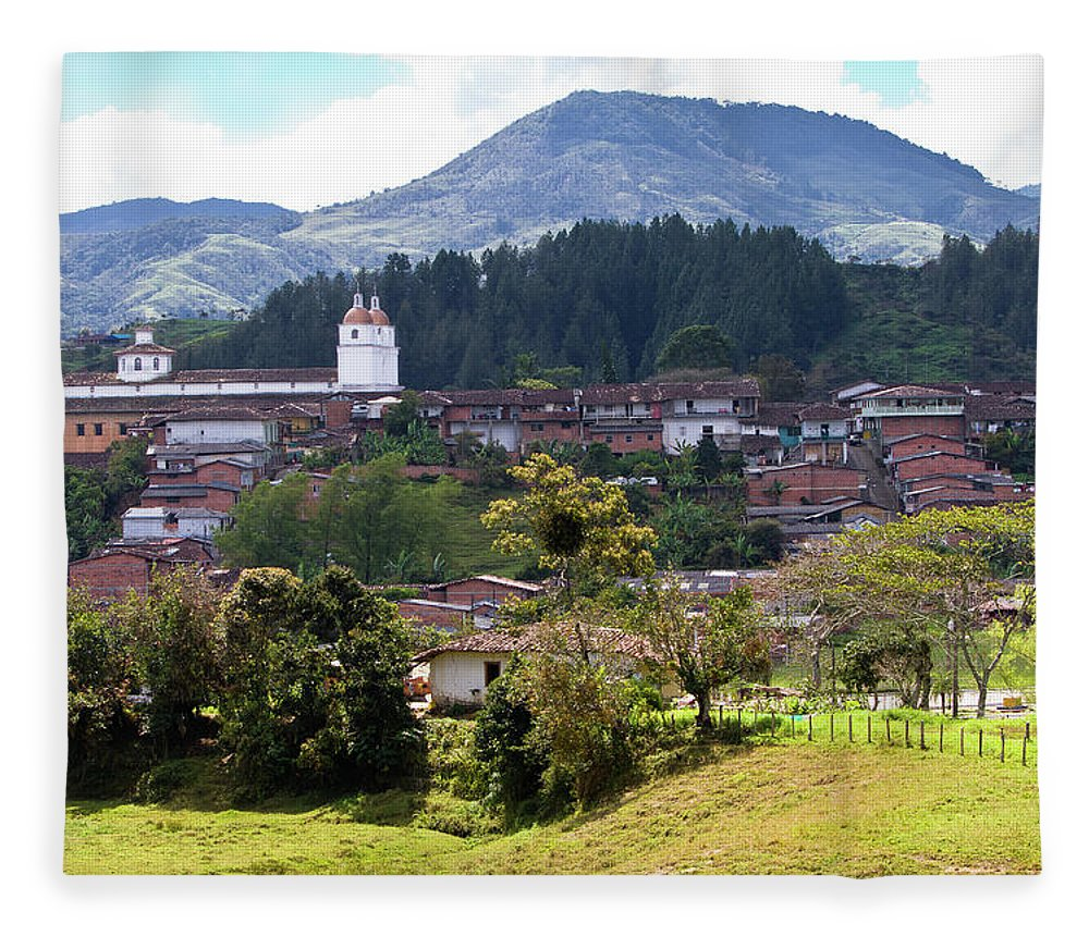 Tranquility Fleece Blanket featuring the photograph Andean Town by Alejocock