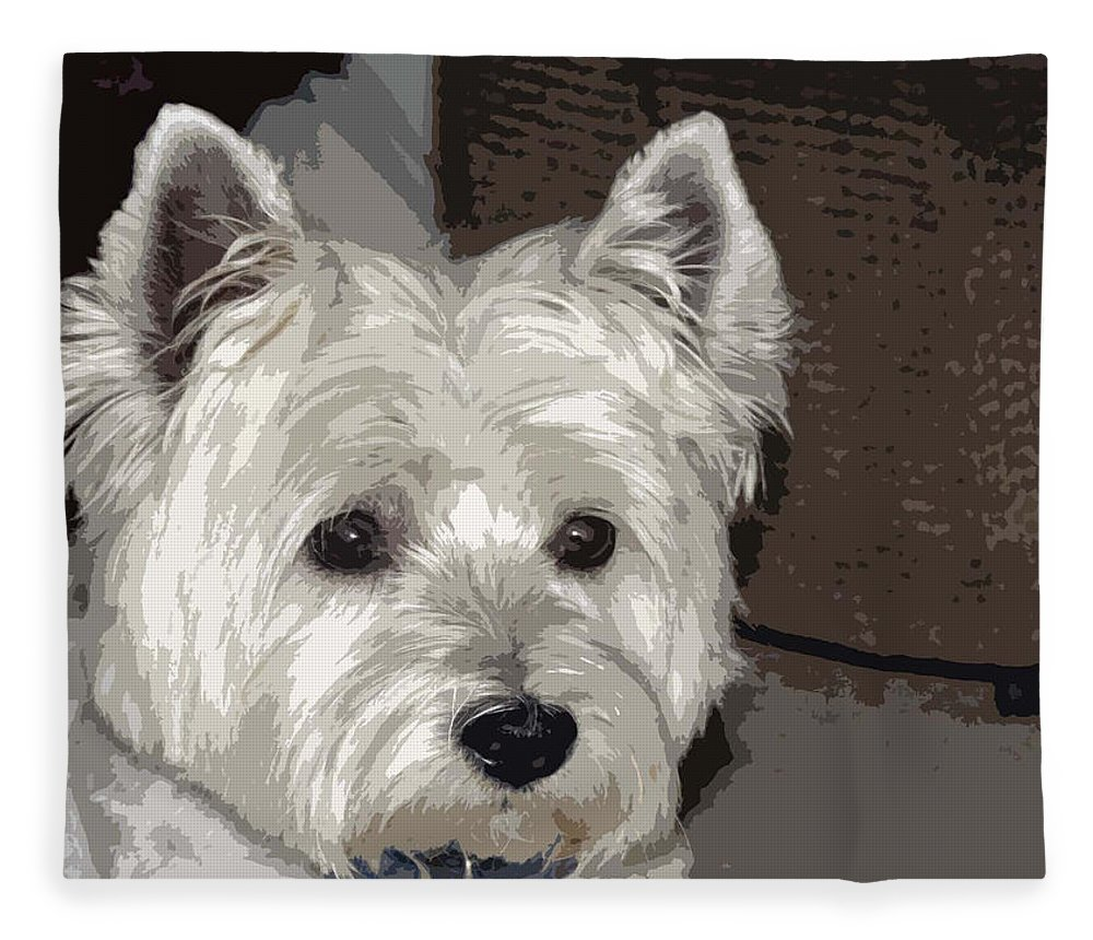 Westie Fleece Blanket featuring the photograph Annie by Linda Dunn