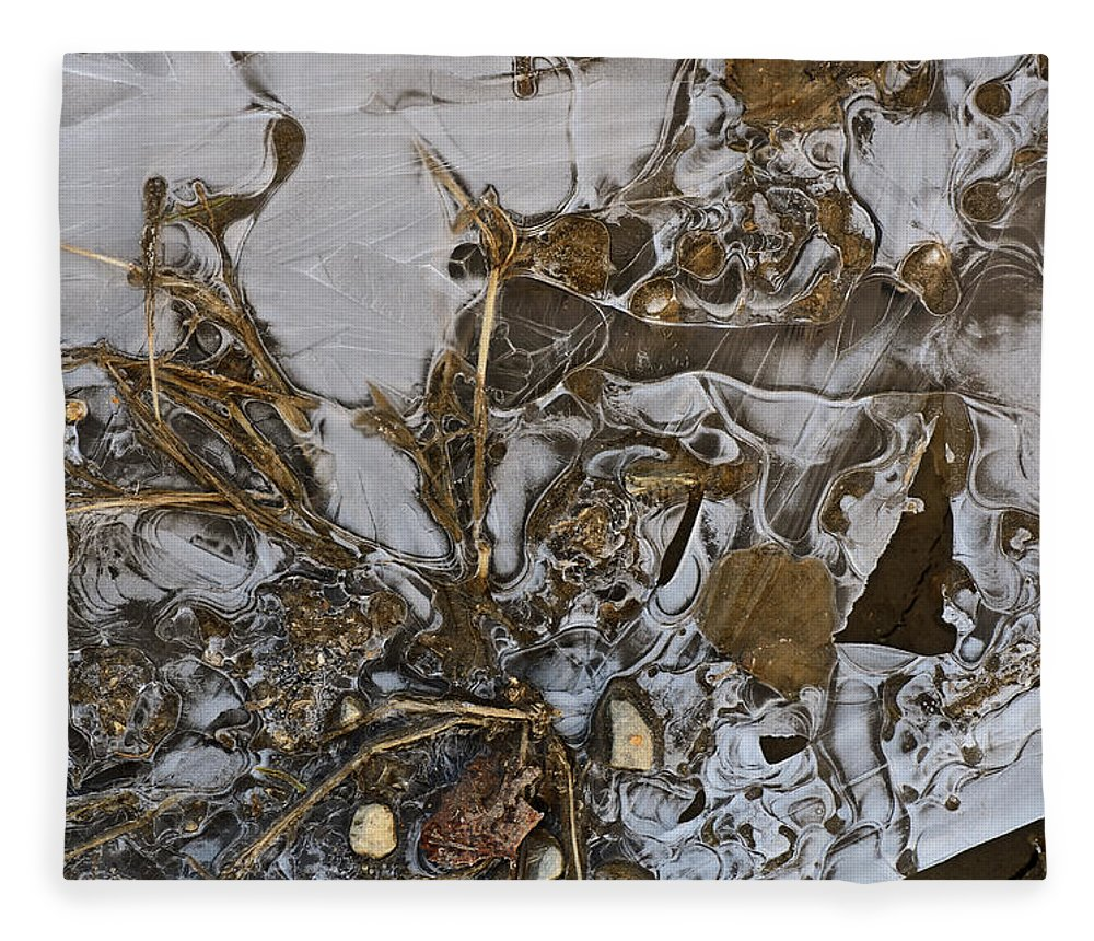 Ice Fleece Blanket featuring the photograph Apparitions On Ice by Susan Capuano