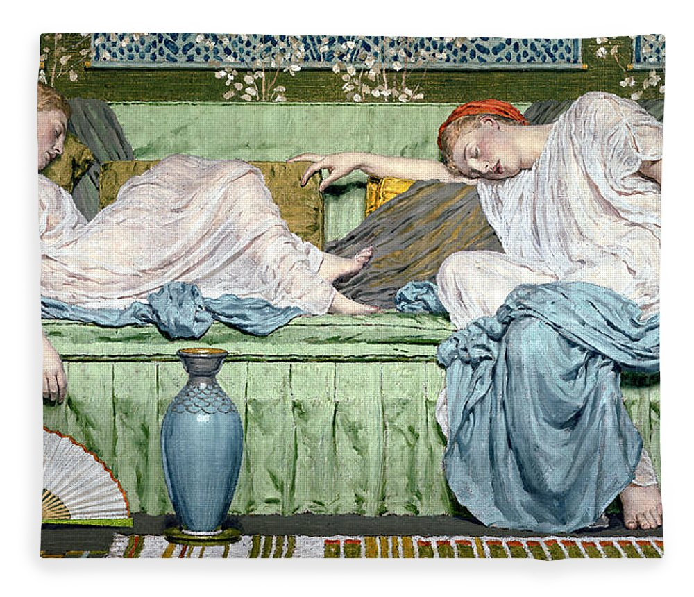 Sleep Fleece Blanket featuring the painting Apples by Albert Joseph Moore