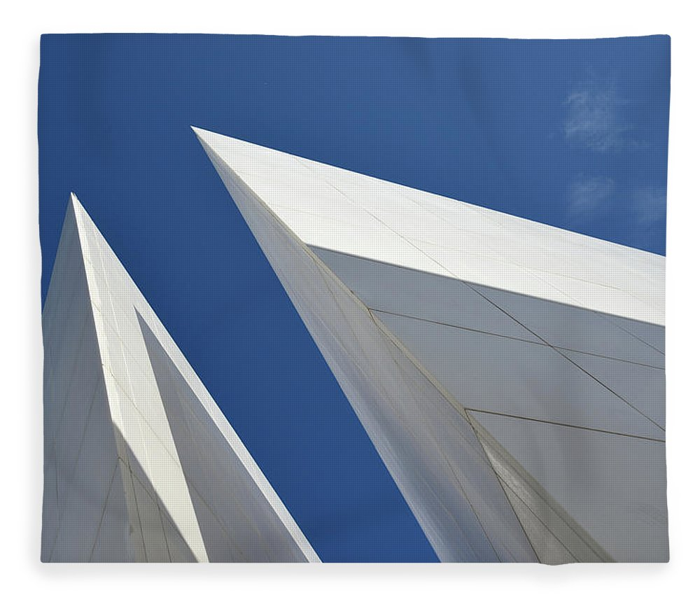 Tranquility Fleece Blanket featuring the photograph Architectural Details by Martial Colomb