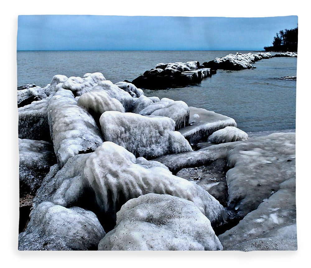 Freezing Fleece Blanket featuring the photograph Arctic Waters by Frozen in Time Fine Art Photography