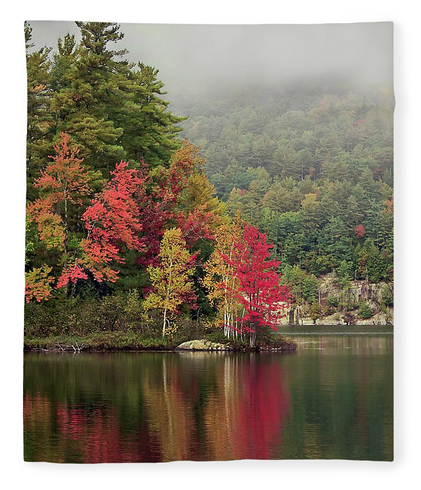 New York Fleece Blanket featuring the photograph Autumn Breath by Evelina Kremsdorf