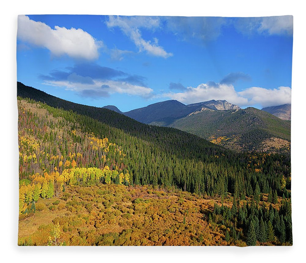 Scenics Fleece Blanket featuring the photograph Autumn Color In Colorado Rockies by A L Christensen
