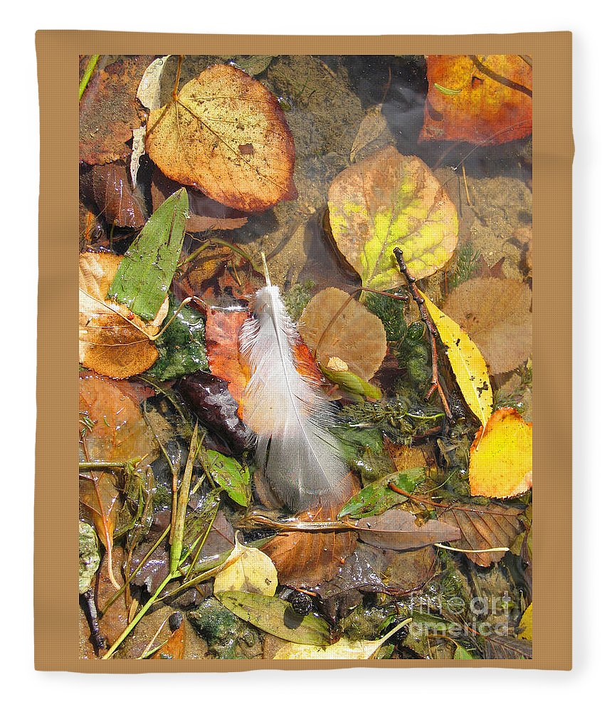 Autumn Fleece Blanket featuring the photograph Autumn Leavings by Ann Horn