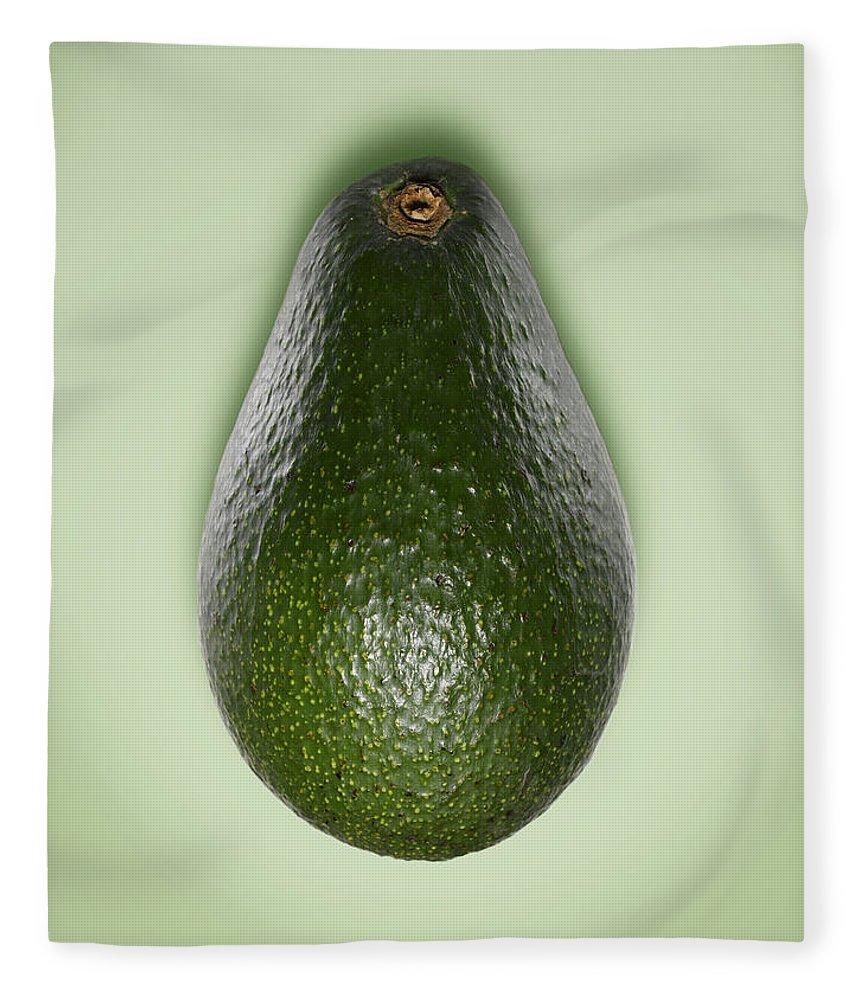 Avocado Fleece Blanket featuring the photograph Avocado by Adrian Burke