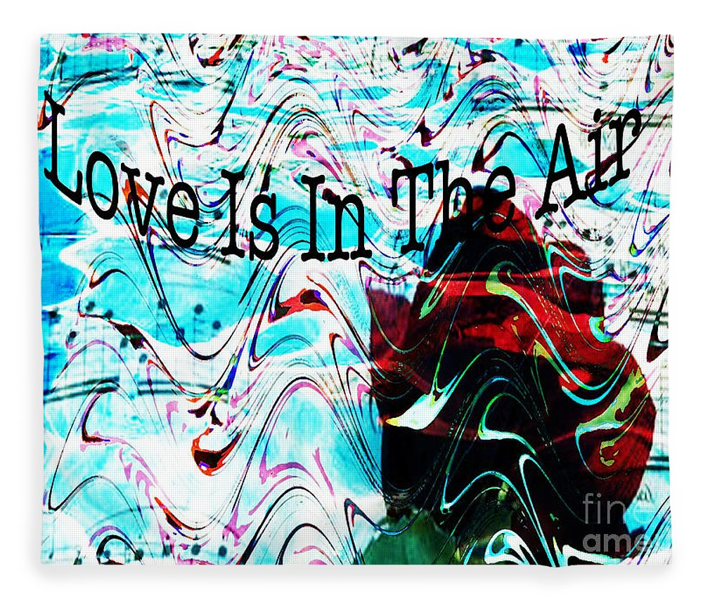 Digital Art Flower Fleece Blanket featuring the digital art Awareness II by Yael VanGruber