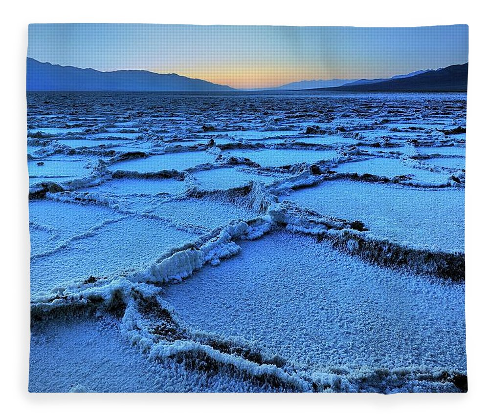 Tranquility Fleece Blanket featuring the photograph Badwater Dusk, Death Valley, California by Joao Figueiredo