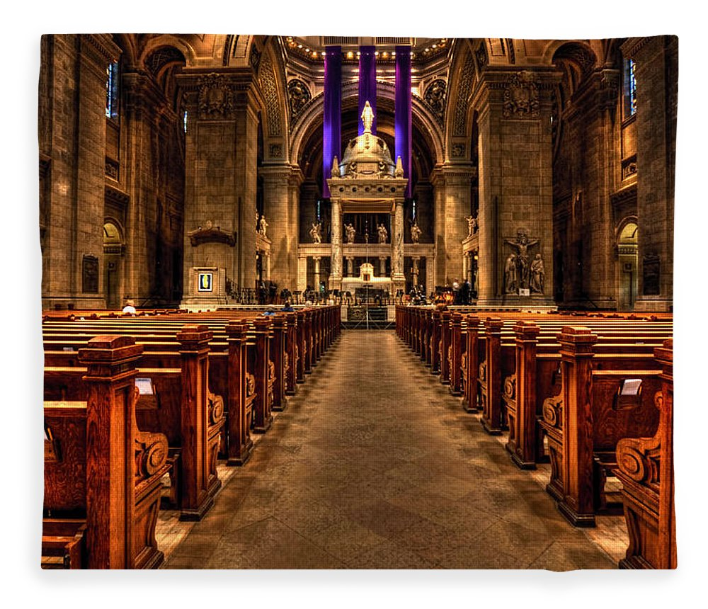 Mn Church Fleece Blanket featuring the photograph Basilica Of Saint Mary by Amanda Stadther
