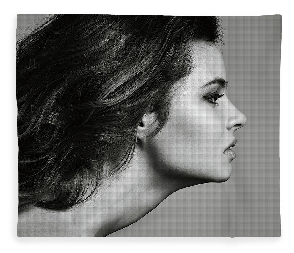 Cool Attitude Fleece Blanket featuring the photograph Beautiful Woman by Lambada