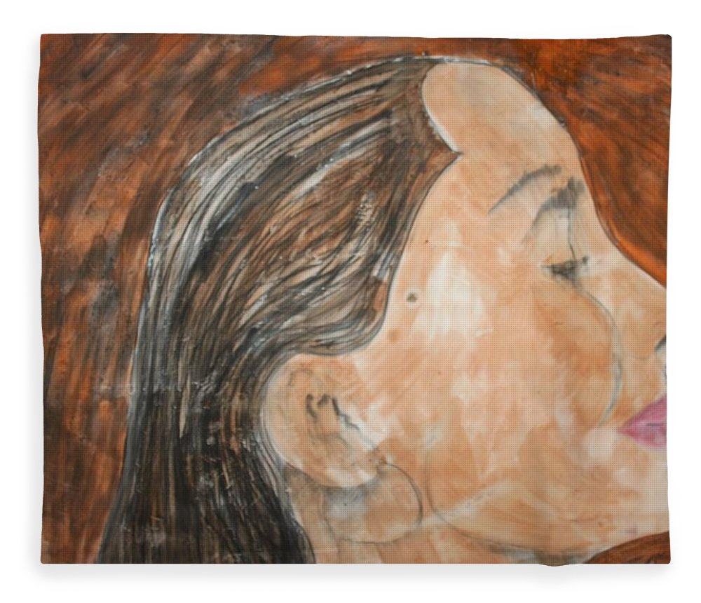 Women Fleece Blanket featuring the painting Beauty Remains by J Bauer