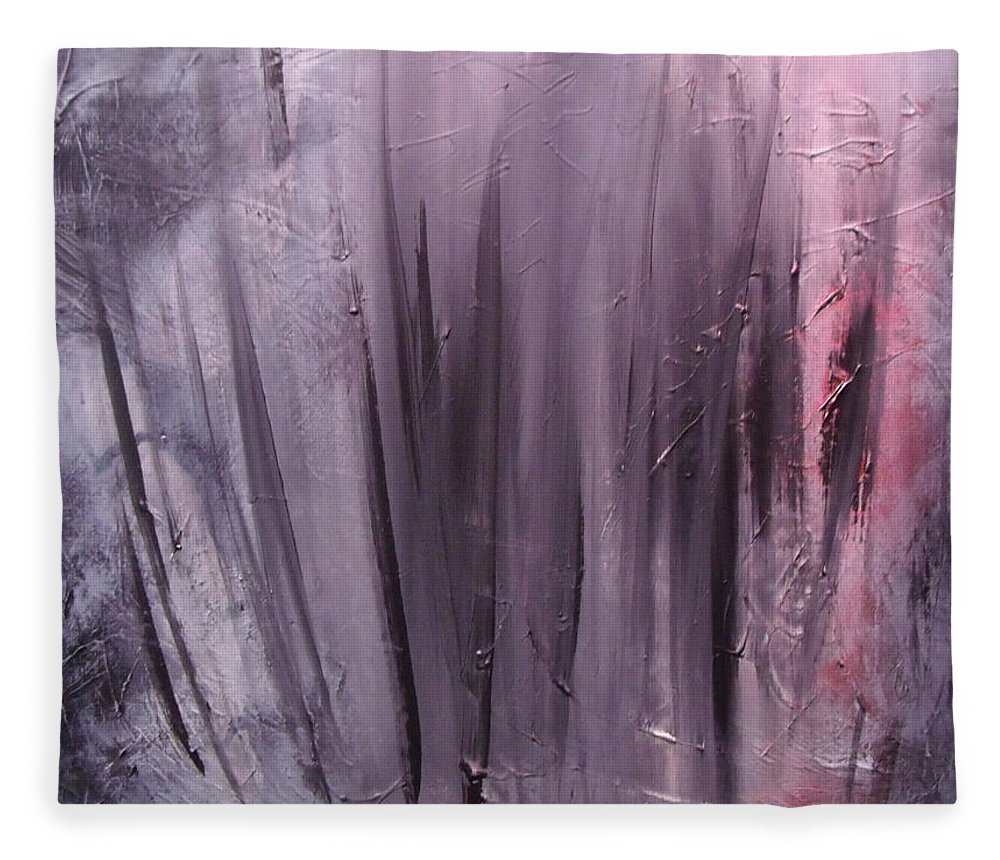 Abstract Fleece Blanket featuring the painting Behind shadows by Sergey Bezhinets