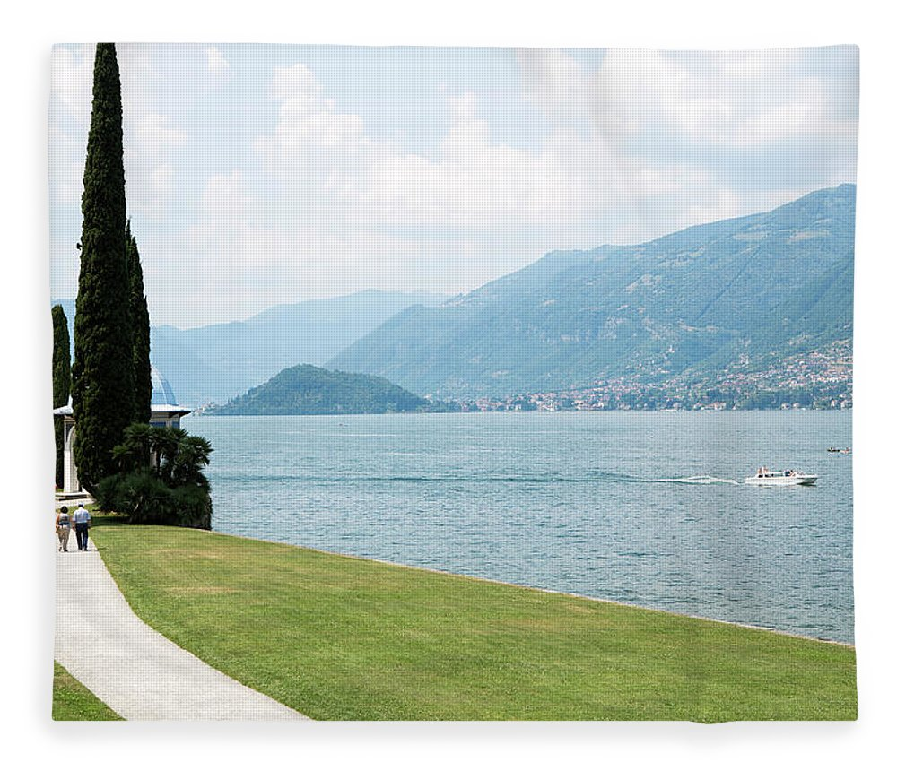 Tranquility Fleece Blanket featuring the photograph Bellagio, Lake Como, Lombardy, Italy by Tim E White