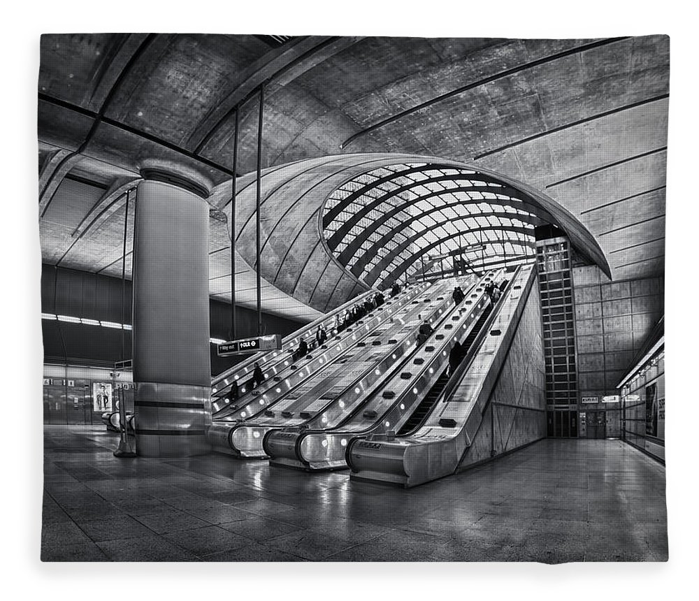 London Fleece Blanket featuring the photograph Beneath The Surface Of Reality by Evelina Kremsdorf