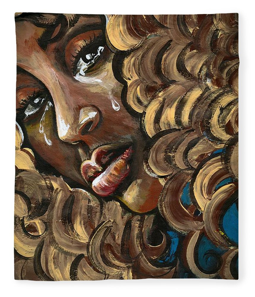 Sad Fleece Blanket featuring the photograph Big GIRLS DONT Cry by Artist RiA